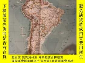 二手書博民逛書店1906年罕見南美洲地圖 49cm*40cm 詳細精美Y35803 德國