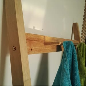 實木簡約自然木紋GENEVA落地壁靠創意衣帽置物架YCYM001