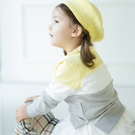 韓版三色拼接長袖上衣親子裝(小孩)