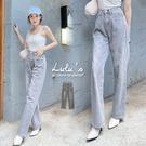 LULUS【A04200179】C刷色寬鬆牛仔褲S-L灰