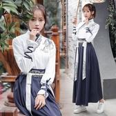 古裝即將絕版白菜漢服整套冬季古裝女正品原創中國風古風女裝學生套裝 伊蘿鞋包
