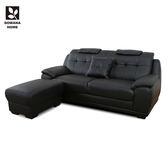 ♥多瓦娜 雷克斯極雅緻L型沙發/三人+腳椅 2410-8316 沙發 L型沙發