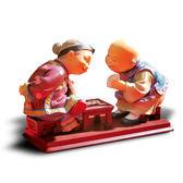 【金石工坊】壽公婆-歡喜冤家(高11CM)老公公老婆婆擬真擺飾 居家擺飾 結婚禮物 桌上擺飾