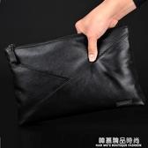 男包手拿包手包時尚軟皮商務頭層牛皮包大容量手抓包潮