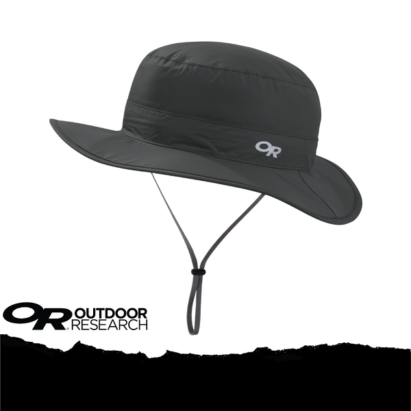 【Outdoor Research 美國 OR CLOUD FOREST RAIN HAT 抗UV防水透氣中盤帽/XL《深灰》】264408-0890/UPF50+