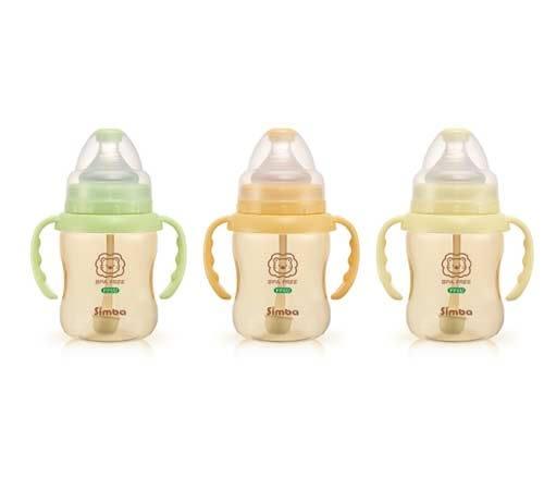 【奇買親子購物網】小獅王辛巴simba PPSU自動把手寬口葫蘆小奶瓶200ml