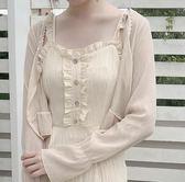 女夏小披肩薄雪紡上衣空調防曬開衫短款外套