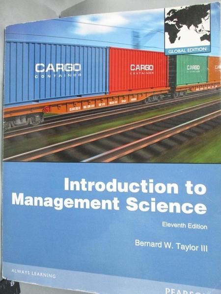 【書寶二手書T7/大學理工醫_XEK】Introduction to Management Science11/e_Ta