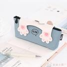 筆袋 可愛貓太極鉛筆袋韓國學生文具袋簡約拉鍊帆布筆袋女 交換禮物
