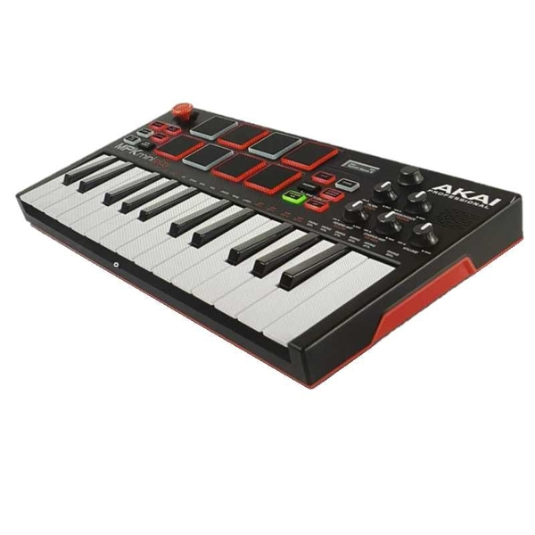 [9美國直購] Akai 迷你播放器 內置揚聲器 Professional MPK Mini Play | Standalone Mini Keyboard & USB Controller