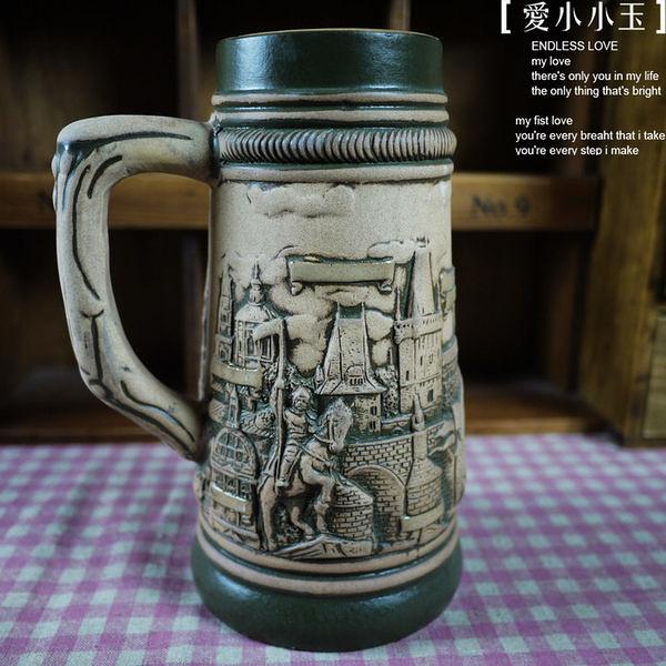 【德國啤酒杯捷克聖騎士321182】陶瓷馬克杯創意