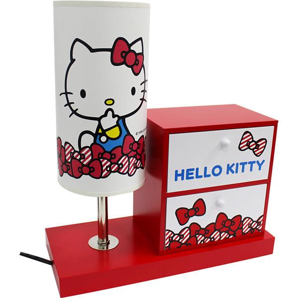 kitty檯燈燈台燈座夜燈桌燈床頭燈收納盒置物盒珠寶盒80407通販屋
