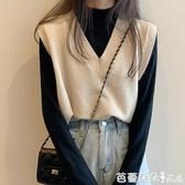 針織小馬甲女2020春秋外穿坎肩毛衣百搭寬鬆背心網紅潮流馬甲外套-芭蕾朵朵