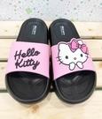 【震撼精品百貨】Hello Kitty 凱蒂貓~台灣製Hello kitty正版成人防水拖鞋-黑底粉色(36-40號)#18193