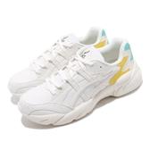 Asics 復古慢跑鞋 Gel-Bnd 米白 黃 休閒鞋 基本款 老爹鞋 男鞋 亞瑟士【PUMP306】 1021A217102