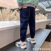 男童牛仔褲春秋2021新款中大童長褲薄款洋氣韓版潮兒童裝春季褲子 美眉新品