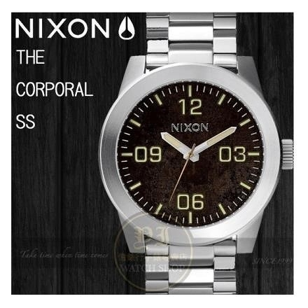 【南紡購物中心】NIXON實體店The Corporal 腕錶/48mm DARK COPPER A346-1956公司貨