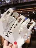 頭飾 珍珠發夾邊夾少女韓國bb夾ins網紅小夾子發卡女卡子頭飾   英賽爾3C數碼店