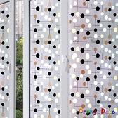 【橘果設計】光影點點 靜電玻璃貼 45*200CM 防曬抗熱 無膠設計 磨砂玻璃貼 可重覆使用 壁紙