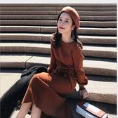 漂亮小媽咪 針織洋裝【D6651】質感彈力 韓國熱銷 孕婦裝 洋裝 孕婦洋裝 毛衣裙