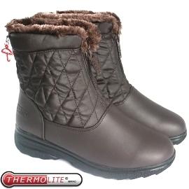 【女 菱格中筒雪鞋 咖啡 】SN193/中筒靴//雪靴/雪鞋/冰爪