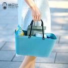 超市購物籃ins時尚手提籃戶外野餐籃鮮花菜籃子塑料收納筐 一米陽光
