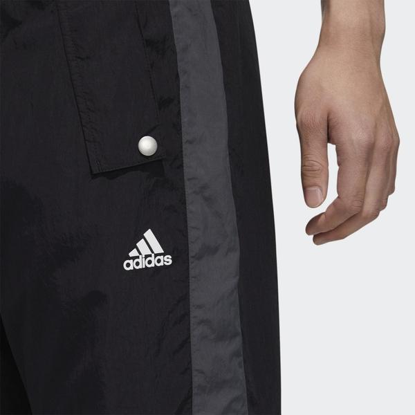 Adidas Must Haves Woven 男裝 長褲 慢跑 休閒 彈力腰身 拉繩 按扣口袋 黑【運動世界】GE0393