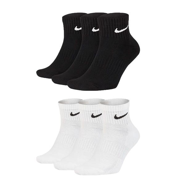 NIKE 三入運動短襪 (三雙入 中筒襪 慢跑 襪子 免運 ≡排汗專家≡