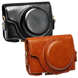 Kamera for Sony RX100/RX100-M2/RX100-M3  兩件式皮質包 時尚簡約設計,內裝絨布包覆 ★6期0利率