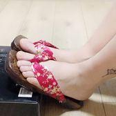 涼拖鞋女夏2018新品日系人字拖百搭夾腳木屐平底沙灘度假拖鞋防滑 雙11大促