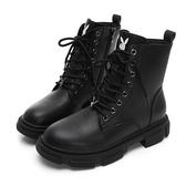 PLAYBOY 黑潮魅力經典仿皮短靴-黑(Y5836)