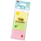 (限量特賣區) 3M 653-3C黃/ 綠/ 粉紅可再貼便條紙1.5×2