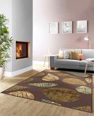范登伯格 法爾達 頂級立體雕花絲質地毯-葉子-200x290cm