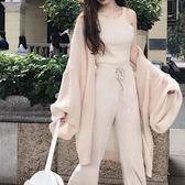 春裝2018新款女柔軟垂感慵懶風百搭外搭衣溫柔純色毛絨開衫帶腰帶禮物限時八九折