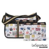 LeSportsac - Standard雙口袋A4大書包-附化妝包 (45周年紀念) 7507P F388