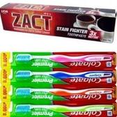 進口ZACT獅王漬脫牙膏(190g)*6+Colgate 潔淨細毛牙刷