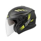 【東門城】ZEUS ZS613B AJ10(消光黑黃) 半罩式安全帽 雙鏡片