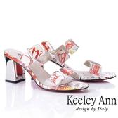 2019春夏_Keeley Ann時尚膠片 熱帶巴西風高跟拖鞋(白色)-Ann系列