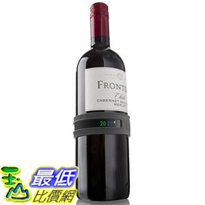 [美國直購] Vacu Vin 3630360 葡萄酒 香檳專用 溫度計 Wine and Champagne Bottle Snap Thermometer - Grey