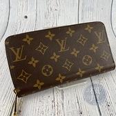 BRAND楓月 LOUIS VUITTON LV 路易威登 M42616 咖啡色 原花 拉鍊長夾 皮夾 錢夾 錢包