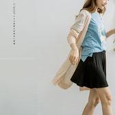 罩衫    大V領素面細針織長版外套   四色原單-小C館日系