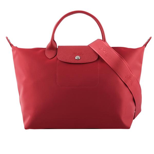 【LONGCHAMP】M號Le Pliage Neo厚款尼龍二用包(酒紅色) L1515 598 545