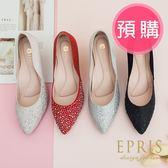 預購 MIT小中大尺碼婚鞋尖頭鞋推薦 星空女神 全真皮羊皮高跟鞋 20.5-26 EPRIS艾佩絲