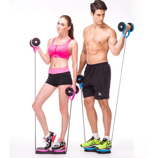 家用多功能健腹輪腹肌輪腹部收腹輪健身器材拉力器扭腰盤收腹器捲