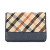 DAKS 經典斜格紋證件夾名片夾信用卡夾(藍灰色)230125-05