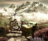 自行車防水馱包山地車防雨川藏線尾包駝包騎行裝備後貨架包花間公主YYS