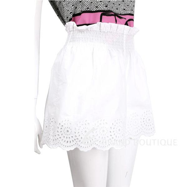 PHILOSOPHY 白色縷空雕花鬆緊設計短褲 1620149-20