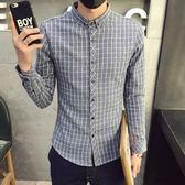 加絨襯衫-休閒低調個性保暖男長袖上衣2色72am13[巴黎精品]