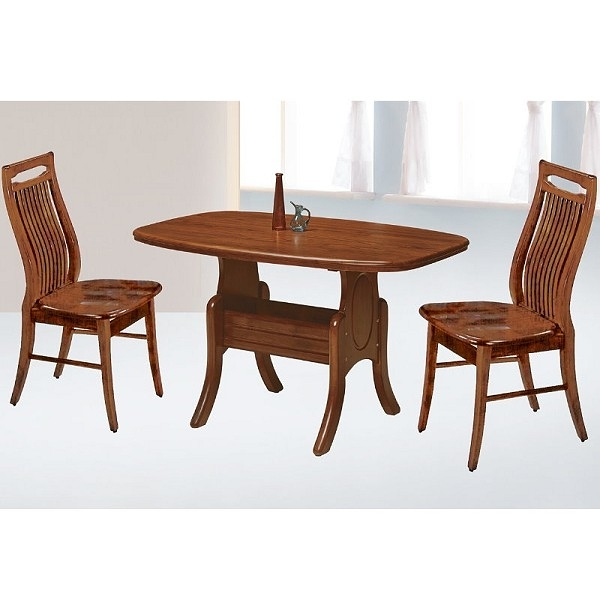 餐桌 AT-828-9 小美式柚木餐桌 (不含椅子) 【大眾家居舘】