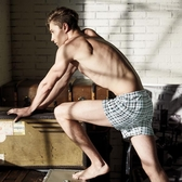 【DAYNEER】寬鬆舒活格子寬鬆四角褲(方格黑)(未滿3件恕無法出貨,退貨需整筆退)